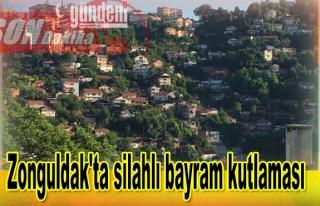 Zonguldak'ta silahlı bayram kutlaması