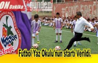 Futbol Yaz Okulu'nun startı Verildi.
