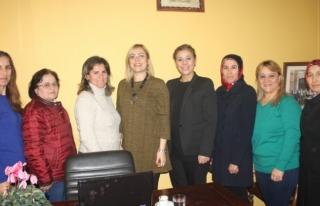 Kadın Kollarından Şehit Aileleri Derneği'ne ziyaret