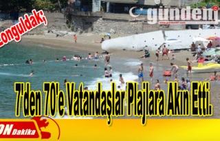 7'den 70'e Vatandaşlar Plajlara Akın Etti.