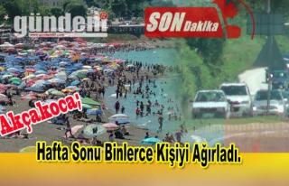 Akçakoca'da hafta sonu binlerce kişiyi ağırladı.