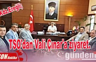 TSO'dan Vali Çınar'a ziyaret