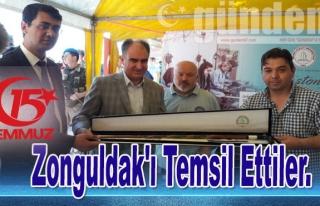 Zonguldak'ı Temsil Ettiler