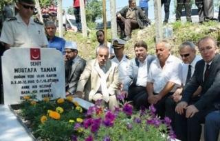 15 Temmuz; Şehit Düşen Yaman'ın Kabri Ziyaret...