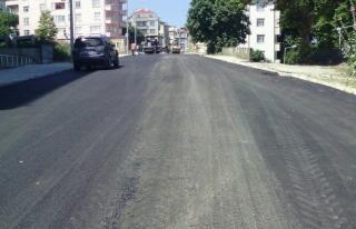 Caddede Asfalt Çalışması Tamamlandı