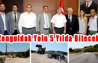 Zonguldak yolu 5 yılda bitecek