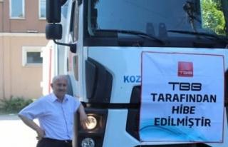 Kozcağız Belediyesine TBB'dan kamyon hibesi