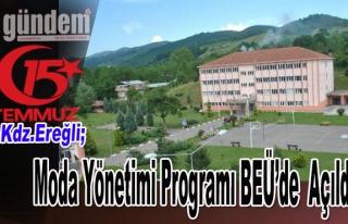 Moda Yönetimi Programı Bülent Ecevit Üniversitesinde...