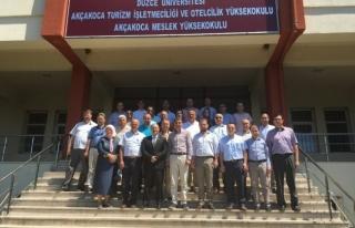 Düzce Üniversitesi Akçakoca Yerleşkesine ziyaret