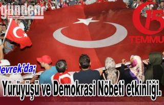 Devrek'te 15 Temmuz Milli Birlik Yürüyüşü ve...