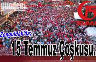 Zonguldak'da 15 Temmuz coşkusu