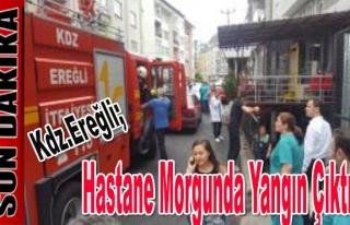 Hastane Morgunda yangın çıktı