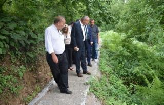 Başkan Keleş, trekking yolunda inceleme