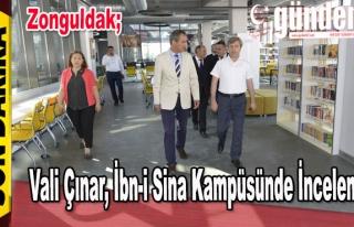 Vali Çınar, İbn-i Sina Kampüsünde İnceleme.