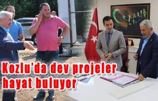 Kozlu'da dev projeler hayat buluyor