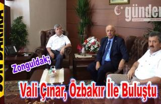 Vali Çınar, Özbakır ile buluştu