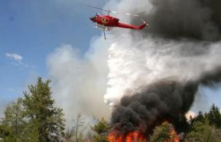 Safranbolu'da Orman Yangını helikopter destekli...