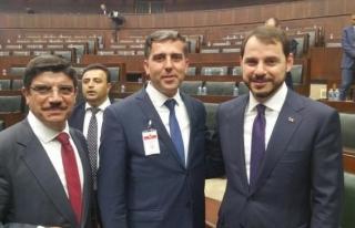 Düzceli muhtarlar  AK Parti grup toplantısında