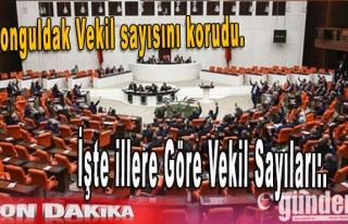 Zonguldak Vekil sayısını korudu. illere göre vekil...