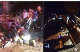 Bartın'da otomobili çarparak takla attı.: 2 yaralı