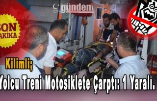 Kilimli'de Yolcu Treni Motosiklete Çarptı: 1 Yaralı