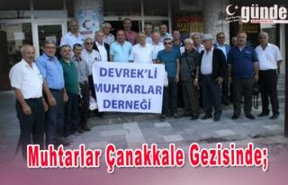 Devrek İlçesinde Muhtarlar Çanakkale Gezisinde.