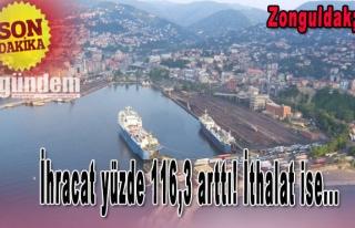 Zonguldak'ta İhracat yüzde 116,3 arttı! İthalat...