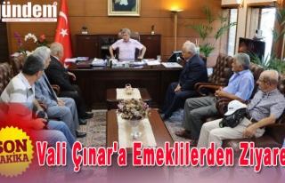 Vali Çınar'a Emeklilerden ziyaret