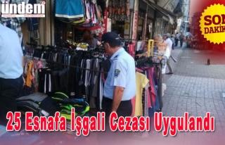 Zonguldak'ta 25 Esnafa İşgali Cezası Uygulandı