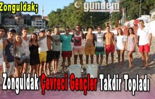 Zonguldak Çevreci Gençler Takdir Topladı