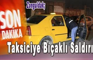 Kozlu'da Taksiciye Bıçaklı saldırı