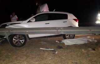 Düzce TEM Otoyolunda kaza 2 ölü 3 yaralı