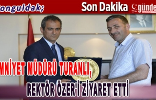 Emniyet Müdürü Turanlı, Rektör Özer'i ziyaret...