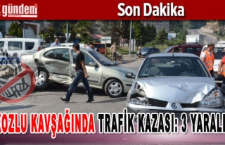 Kozlu Kavşağında Trafik Kazası: 3 Yaralı