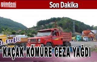 Ereğli'de Kaçak Kömüre Ceza Yağdı