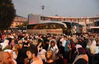 Düzce'den Hacı Adayları Kutsal Topraklara Uğurlandı