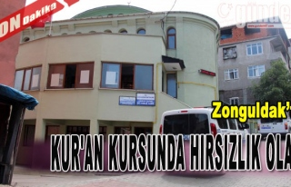 Zonguldak'ta Kur'an Kursunda Hırsızlık Olayı