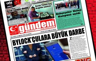 12 Ağustos 2017 Gündem Gazetesi