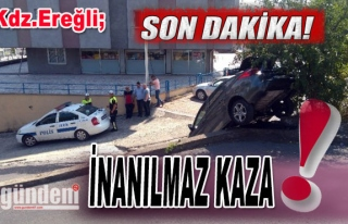 Ereğli'de İnanılmaz Kaza