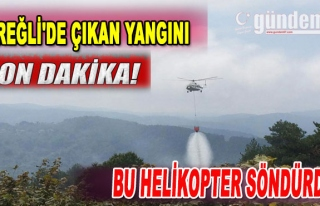 Ereğli'de yangını bu helikopter söndürdü