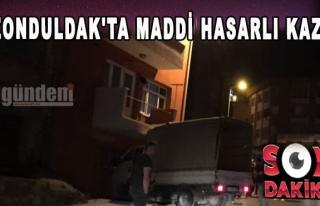 Zonduldak'ta maddi hasarlı kaza