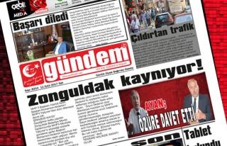 12 Eylül 2017 Gündem Gazetesi
