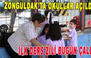 Zonguldak'ta Okullar açıldı, ilk ders zili bugün...