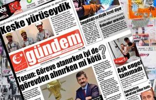 26 Eylül 2017 Gündem Gazetesi