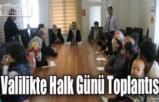 Valilikte Halk Günü Toplantısı