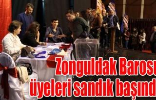 Zonguldak Barosu üyeleri sandık başında