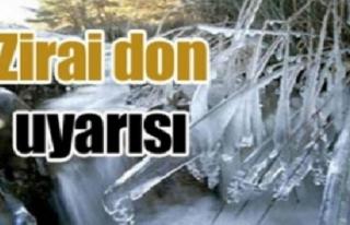 Batı Karadeniz için zirai don uyarısı