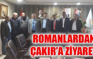 ROMANLARDAN ÇAKIR'A ZİYARET