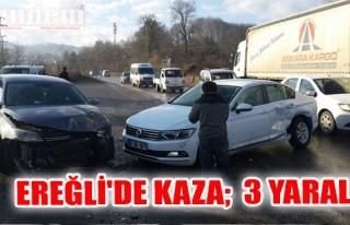 Ereğli'de Kaza;  3 Yaralı