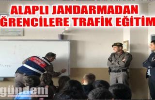 Alaplı Jandarmadan öğrencilere trafik eğitimi